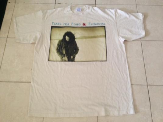 Vintage 1993 Tears For Fears Elemental Tour T-Shirt