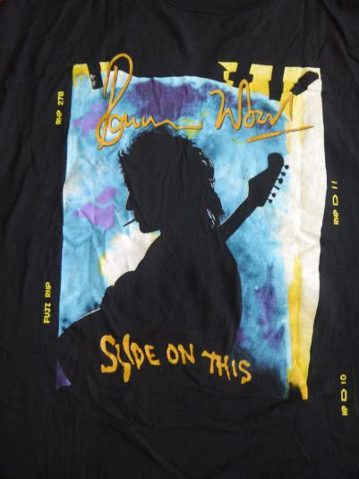 Vintage 1992 90s Ronnie Wood Slide On This Tour T-Shirt