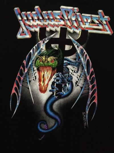 Vintage 1990 Judas Priest Painkiller Tour T-Shirt