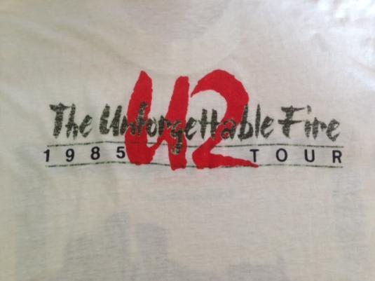 Vintage 1985 U2 The unfogettable Fire Tour T-Shirt