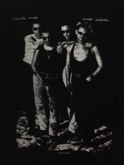 Vintage 1990 Depeche Mode Europe Tour T-Shirt XL/L