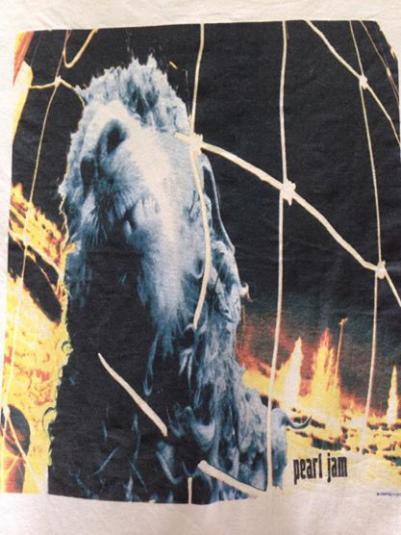 Vintage 1993 pearl Jam Vs Threadworm T-Shirt Grunge Seattle