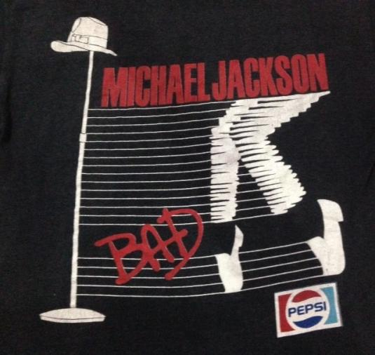 Vintage 1988 Michael Jackson Bad Tour T-Shirt MJ Jackson 5