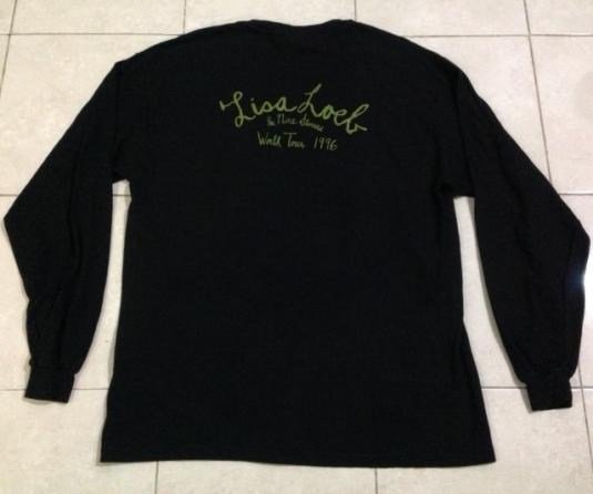 Vintage 1996 Lisa Loeb Long Sleeve T-Shirt 90s