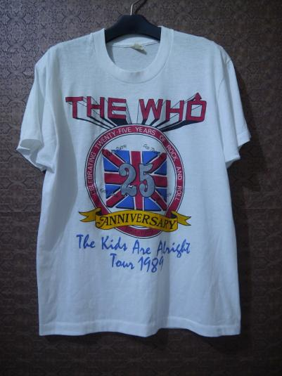 1989 THE WHO 25th Anniversary Tour T-Shirt