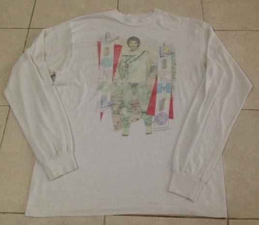 Vintage 1984 Lionel Richie Long Sleeve T-Shirt
