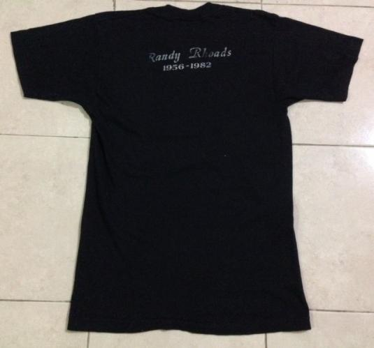Vintage 80s Randy Rhoads T-Shirt Ozzy Osbourne Quiet Riot