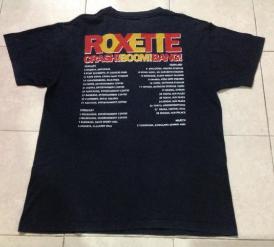 Vintage 1994 Roxette Crash Boom BangTour T-Shirt 90s
