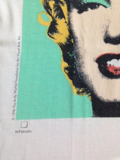 Vintage 1996 Andy Warhol Marilyn Monroe T-shirt TV Movie