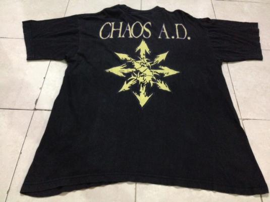 Vintage 1993 Sepultura Chaos A.D T-Shirt Soulfly