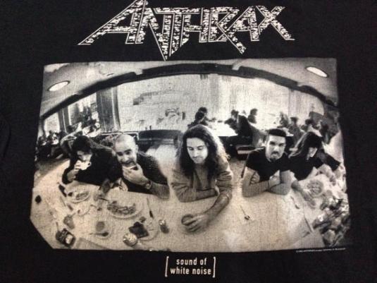 Vintage 1993 Anthrax Sound of Noise Tour T-Shirt