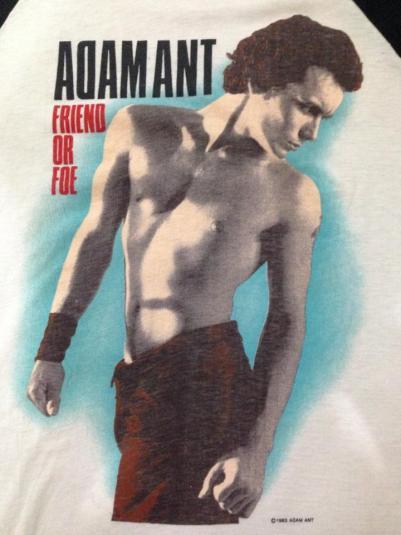 Vintage Rare 1983 Adam Ant Friend or Foe Jersey Shirt XL/L