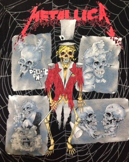 1992 Metallica Ringmaster All Over Print Tour T Shirt 90s