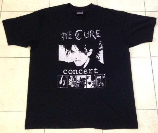 Vintage 80s The Cure Concert T-Shirt XL EX CONDITION PUNK