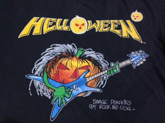 Vintage 1989 Helloween Europe Tour T-Shirt M 1988 80s