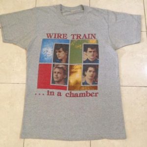 Vintage 1984 Wire Train Tour T-Shirt American New Wave