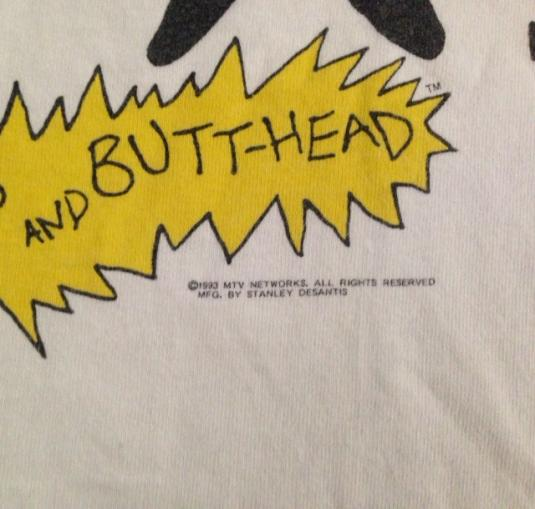 VINTAGE 1993 BEAVIS and BUTTHEAD T-SHIRT 90s
