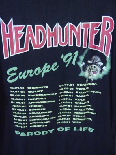 1991 HEADHUNTER Parody Of Life Europe Tour
