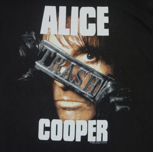 Vintage 1990s Alice Cooper Trashes Japan Tour T-Shirt