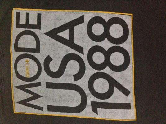 Vintage 1988 Depeche Mode USA Tour T-Shirt New Wave 80s