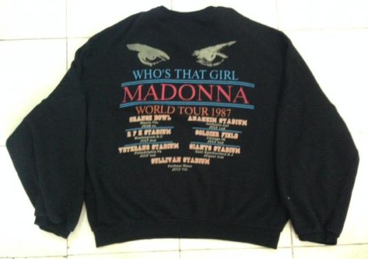 Vintage 1987 Oversized Madonna Whos That Girl Tour Sweater