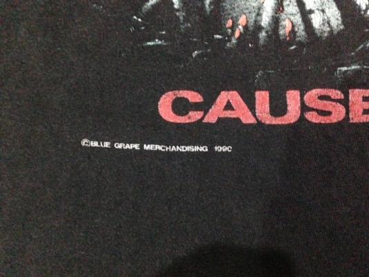 Vintage 1990 Obituary Cause Of Death Tour T-Shirt 1991 L/M