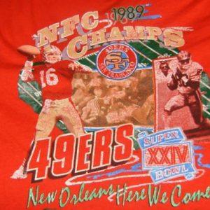 Red Shirt From 1989 Super Bowl XXIV 49er NFC