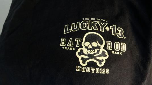 Lucky 13 Kustoms black heavy cotton t-shirt