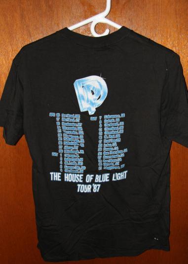 ORIGINAL VTG DEEP PURPLE concert t shirt 1987