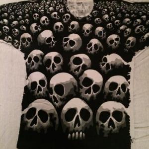1992 Chris Pinkerton Liquid Blue Skull t-shirt