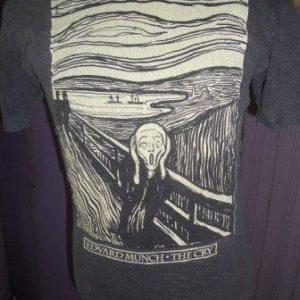vintage edward munch the scream t-shirt