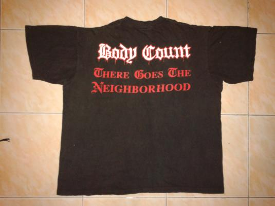 vintage 92 BODY COUNT – THERE GOES THE NEIGHBORHOOD t-shirt