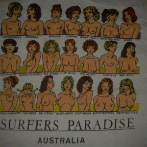 VINTAGE SURFERS PARADISE - BOOBIES T-SHIRT