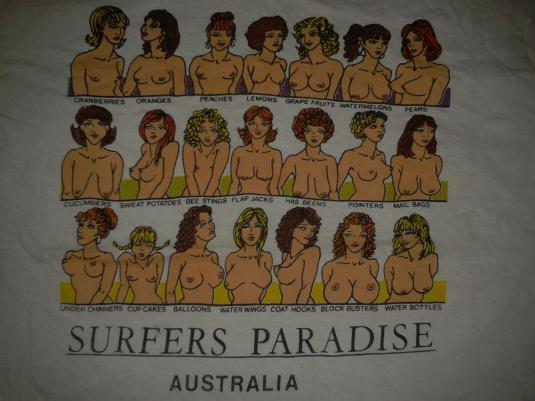 VINTAGE SURFERS PARADISE – BOOBIES T-SHIRT