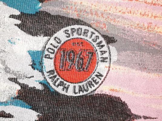 VINTAGE 1991 RALPH LAUREN POLO SPORTSMAN – FISHING T-SHIRT