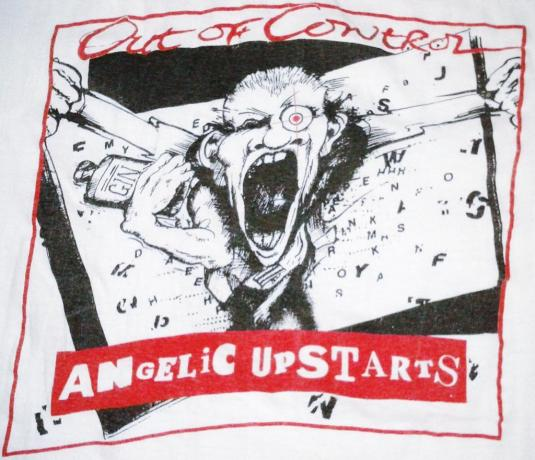 VINTAGE 80's ANGELIC UPSTARTS – OUT OF CONTROL T-SHIRT