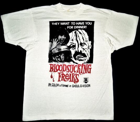 vintage 80's Bloodsucking Freaks t-shirt