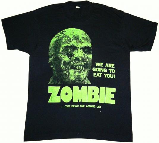 vintage Lucio Fulci Zombie: We Are Going To Eat You T-Shirt
