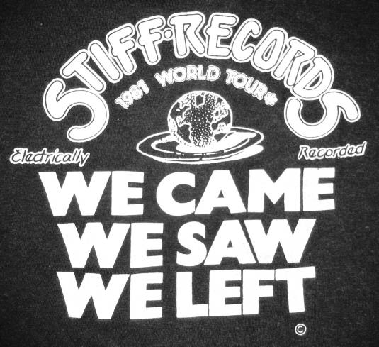 VINTAGE 1981 STIFF RECORDS T-SHIRT