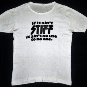 VINTAGE 70's STIFF RECORDS T-SHIRT