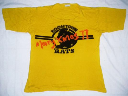 VINTAGE 70's THE BOOMTOWN RATS- MERRY XMAS 77 T-SHIRT