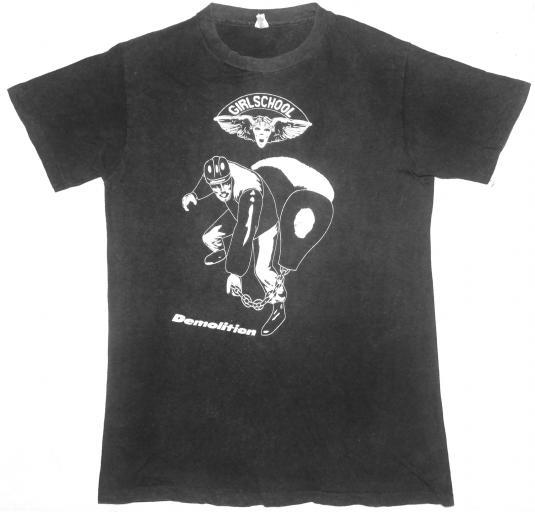 vintage 1980 GIRLSCHOOL – DEMOLITION t-shirt