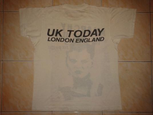 VINTAGE 80's SEX PISTOLS – UK TODAY LONDON ENGLAND T-SHIRT