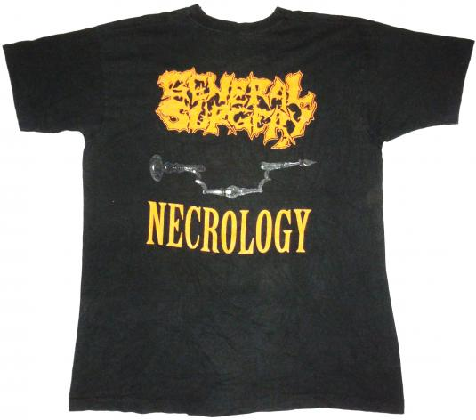 vintage 1991 General Surgery – Necrology t-shirt