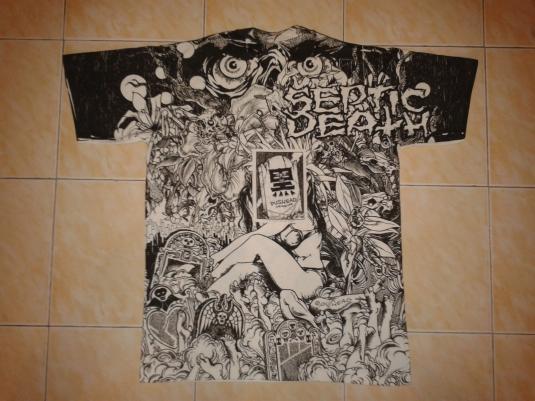 VINTAGE 1990 SEPTIC DEATH – PUSHEAD KURO-LINE 50/50 T-SHIRT