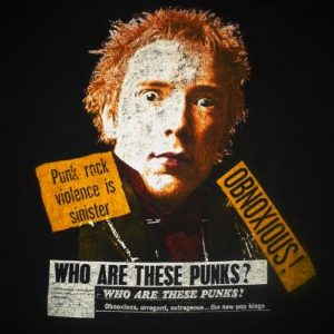 VINTAGE JOHNNY ROTTEN - WHO ARE THESE PUNKS T-SHIRT