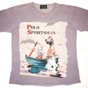 VINTAGE 1991 RALPH LAUREN POLO SPORTSMAN - FISHING T-SHIRT