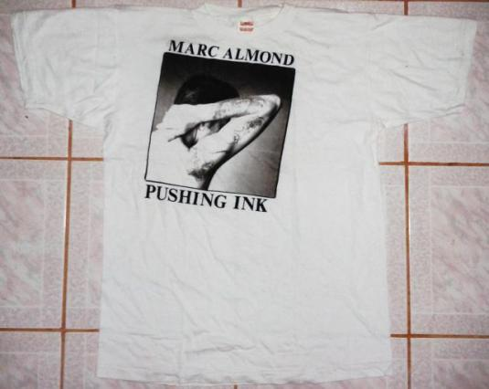 VINTAGE 80's MARC ALMOND – PUSHING INK T-SHIRT