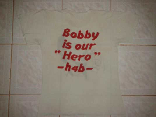 """VINTAGE BOBBY BROWN – BOBBY IS OUR """"HERO"""" T-SHIRT"""