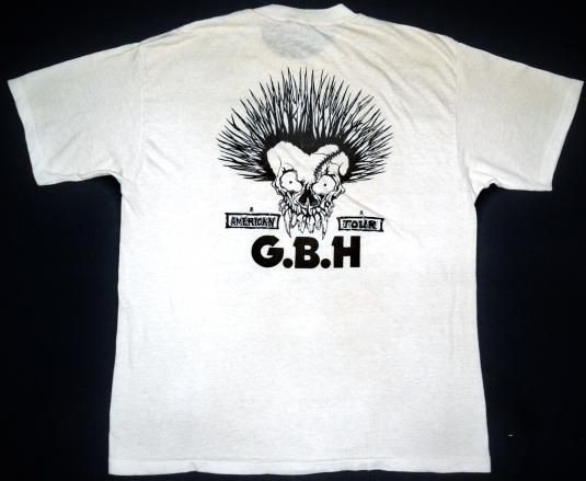 vintage 80's G.B.H American Tour t-shirt